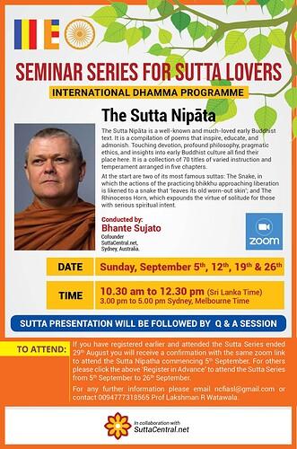 SuttaNipata flyer