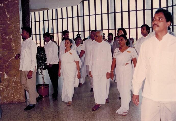 with pres wijetunga 1993